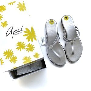 April Mariah Rhinestone Sandals NWT